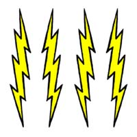Lightning Bolts temporary tattoo