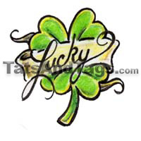 lucky  temporary tattoo