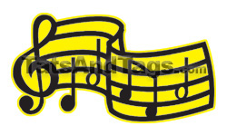 Music Notes Temporary Tattoo