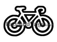 bicycle temporary tattoo