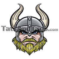 Vikings temporary tattoo
