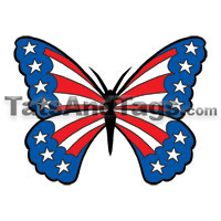 patriotic butterfly temporary tattoo