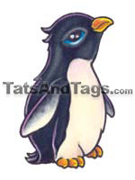 Penguin temporary tattoo