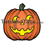 halloween pumkin temporary tattoo