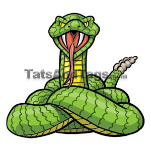 Rattlesnake temporary tattoo