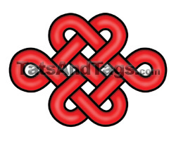 red celtic knot temporary tattoo