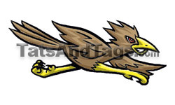Roadrunner temporary tattoo