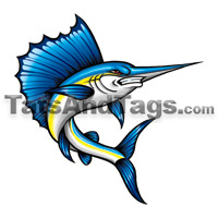 sailfish temporary tattoo