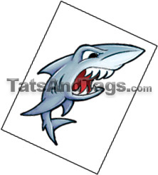 shark temporary tattoo
