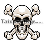 skull bones temporary tattoo