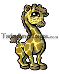 Giraffe Temporary Tattoo