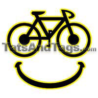 smiley bike temporary tattoo