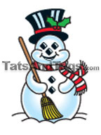 snowman temporary tattoo