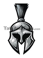 spartan head temporary tattoo