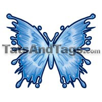 water butterfly temporary tattoo