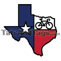 texas flag bike temporary tattoo