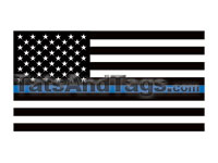 Small Thing Blue Line Flag Temporary Tattoo