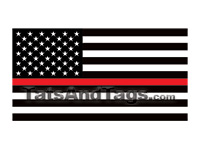 Small Thing Red Line Flag Temporary Tattoo