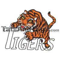 Tigers temporary tattoo