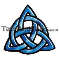 trinity knot temporary tattoo