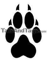 Wolf Paw Print Temporary Tattoo