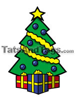 Christmas tree temporary tattoo