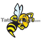 Yellow Jacket temporary tattoo