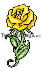 Yellow Rose Temporary Tattoo| Tattoo Designs by Custom Tags