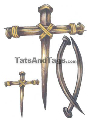 large cross temporary tattoo