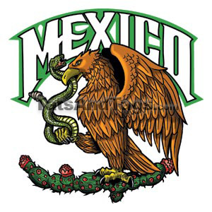 Mexico eagle temporary tattoo
