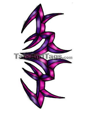 purple tribal temporary tattoo