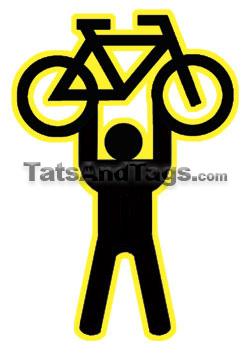 Standing Bicycle Tattoo