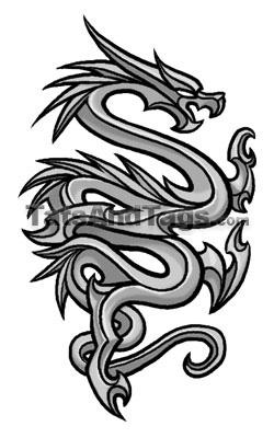 Tribal Dragon Temporary Tattoo Tribal Designs By Custom Tags
