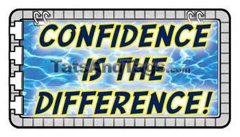 Confidence Is The Difference Swimming Tattoo