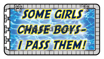 Some Girls Chase Boys - I Pass Them Temporary Tattoo