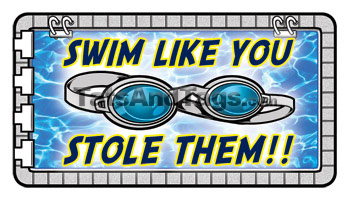Swim Like You Stole Them Tattoo