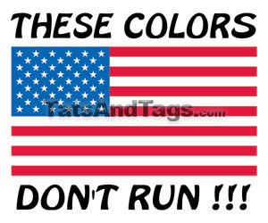 These Colors Don't Run, USA Flag tattoo