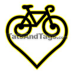 heart bike temporary tattoo