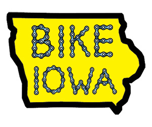 bike Iowa temporary tattoo