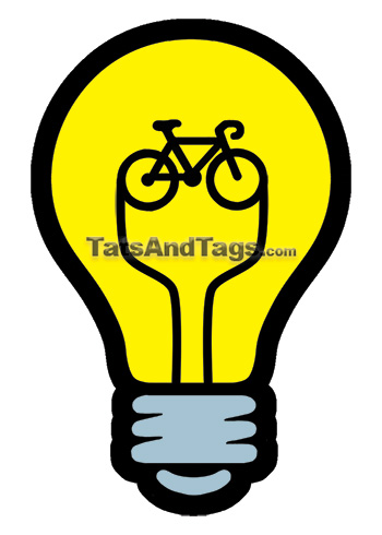 bike lightbulb temporary tattoo