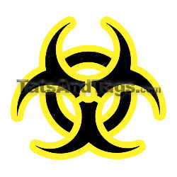 biohazard temporary tattoo