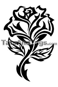 Black Tribal Rose Temporary Tattoo Tribal Designs By Custom Tags