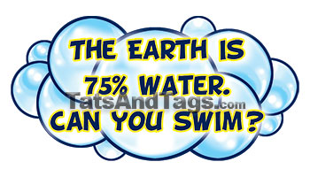 the earth is 75% water can you swim temporary tattoo