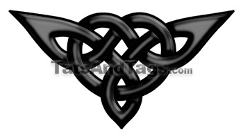 black celctic knot temporary tattoo