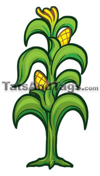 corn stalk temporary tattoo - Halloween Corn Stalks