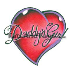 Daddys girl temporary tattoo