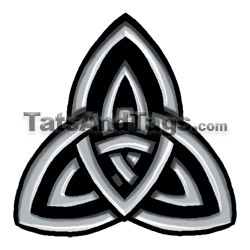 trinity knot temporary tattoos