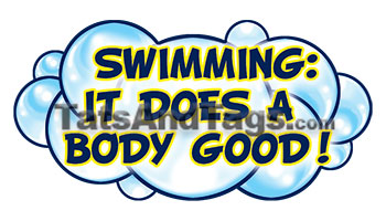 swimming does a body good temporary tattoo