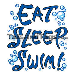 eat sleep swim  temporary tattoo