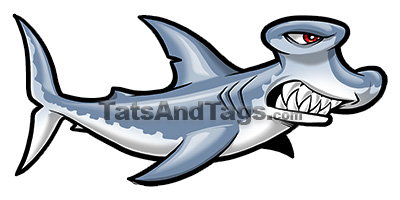 hammerhead shark temporary tattoo